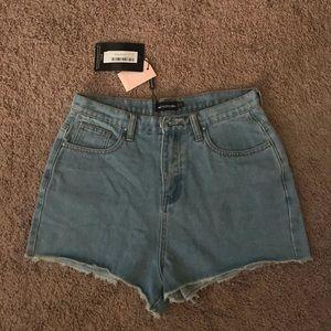 PLT Denim Mom Shorts